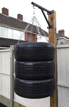 Small home gym with punching bag Ideas for 2020 Home Made Gym, Diy Home Gym, Gym Room At Home, Workout Room Home, Homemade Gym Equipment, Diy Gym Equipment, Punching Bag Diy, Outdoor Gym, Outdoor Workouts