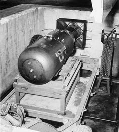 This is the atomic bomb that the Enola Gay carried and dropped on Hiroshima, Japan