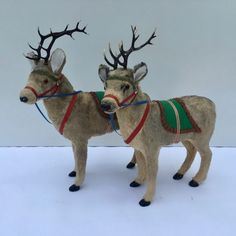 Set of 3 Antique German Lead Reindeer – 1 laying down and 2 standing. Christmas Deer, Antique Christmas, Merry Little Christmas, Christmas Items, Christmas Images, Christmas Things, Santa And His Reindeer, Christmas Decorations, Christmas Ornaments