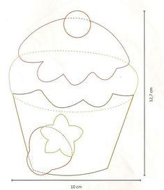 Resultado de imagen de aplicaciones de cupcakes para tela