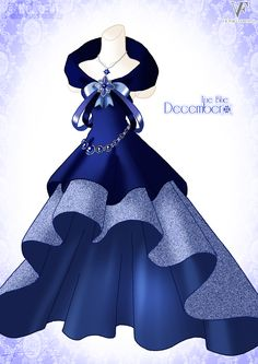 True Blue - December by Neko-Vi.deviantart.com on @deviantART WAY! finally got to my birth month! If it did not have the ribbon and bow, I would be in love!