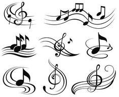 Set of music design elements or symbols. - Music notes set of music design elements or symbols - Music Notes Art, Art Music, Music Collage, Music Artwork, Music Painting, Music Icon, Music Lyrics, Music Artists, Music Tattoo Designs