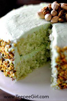 Homemade Pistachio Cake Recipe (& a tribute to Aunt Lou)