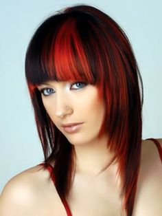 cool hairstyle with red locks - Haircuts pictures gallery