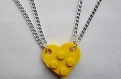 Lego heart necklaces. | 21 Valentine's Gifts They'll Actually Want To Receive