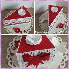 Tortenstück zur Hochzeit, Geburtstag, Dankeschön uvm, Thinlits Form Tortenstück