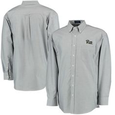 Pitt Panthers Velocity Oxford Long Sleeve Button-Down Shirt - Gray