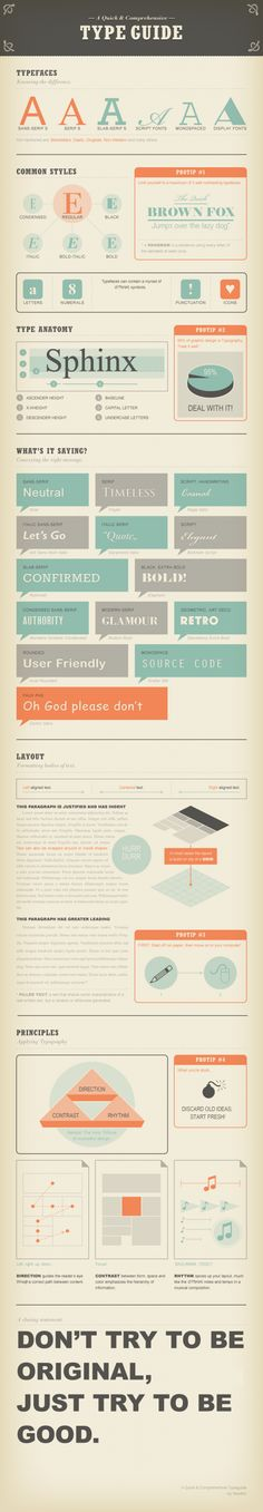 Quick guide to typography #typography #design #layout