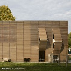 Petting Farm by 70F Architecture - A method of movable insulation and shading.