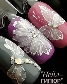 Nail Art Designs In Every Color And Style – Your Beautiful Nails Nail Art Diy, Diy Nails, Manicure, Hot Nail Designs, Beautiful Nail Designs, Pedicure Designs, Art Deco Nails, Butterfly Nail Art, Cute Toe Nails