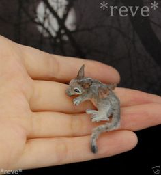 OOAK Realistic ~ Baby Dragon ~ Handmade Miniature Sculpture * Reve #Handmade-my baby dragon I have in Dracula's lap! Louise Glass