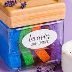 Lavender Essential Oil Dryer Sponges