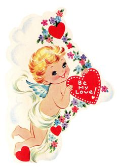 Free Cupid Pictures and Images | Free Vintage Image - Cupid with Heart - The Graphics Fairy