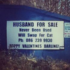 Husband for sale.
