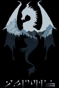 The Elder Scrolls V: #Skyrim's Alduin t-shirt.