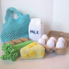 English Food pattern, https://www.etsy.com/listing/68746721/grocery-shopping-play-food-crochet