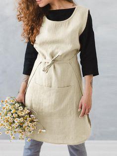 Love Potato Joli tablier de cuisine avec poches pour femmes de style r/étro