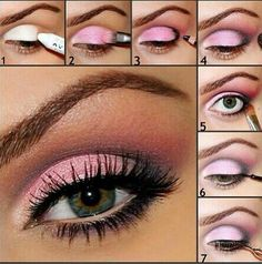 Pink Smoky Eye, I would never do this but it's kind of nice to look at.