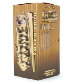 Cones Pre-Rolled Natural Small 98 x 20mm - Small to Reefer in Sizes