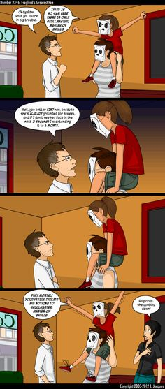 This kid has a) Moxie, b) No Fear, c) An Awesome Imagination, d) A Future Full of Groundings - Questionable Content: New comics every Monday through Friday