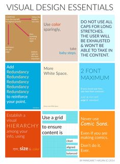 Visual Design Essentials for Lawyers and Communication Design - by Margaret Hagan copy Web Design, Visual Design, Design Basics, Creative Design, Visual Communication Design, Graphic Design Lessons, Graphic Design Tutorials, Graphic Design Inspiration, Design Theory
