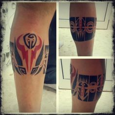 tattoo maori con emblema bull