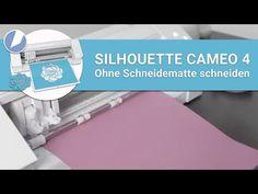 In unserem heutigen Beitrag erfährst du wie du mit deinem SILHOUETTE CAMEO 4 Plotter Papier auch ohne Schneidematte schneiden kannst! Silhouette Cameo, Videos, Paper, Step By Step Instructions, Tutorials