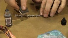 Scrap Time - CHA Summer 2012 - Tim Holtz Tinsel Twine by Mark Giles. Tim Holtz shows us how to distress Tinsel Twine