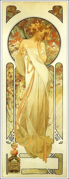 Another beautiful Alphonse Mucha Art Nouveau Painting. I love his Museum in Prague. Disney Art Nouveau, Art Nouveau Mucha, Alphonse Mucha Art, Art Nouveau Poster, Art Nouveau Design, Mucha Artist, Illustration Photo, Illustration Art Nouveau, Illustrations