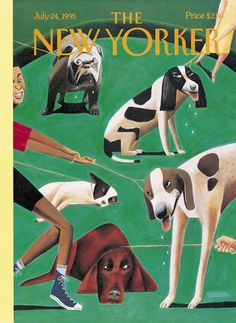 """The New Yorker - Monday, July 24, 1995 - Issue # 3667 - Vol. 71 - N° 21 - Cover """"Dog Days"""" by Mark Ulriksen"""