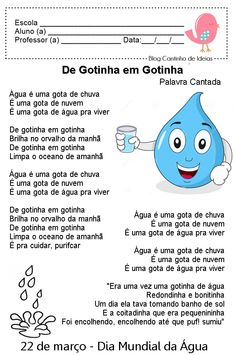 Blog Cantinho de Ideias: Dia Mundial da Água - Atividades Learn Portuguese, World Water Day, English Activities, Primary School, Crafts For Kids, Banner, Family Guy, Teaching, How To Plan