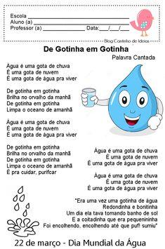 Blog Cantinho de Ideias: Dia Mundial da Água - Atividades