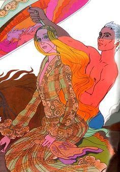 Antonio Lopez illustration, Vogue, late 60s. Antonio Lopez #Illustration, fashion illustration, fashion, art, illustration, drawing, painting