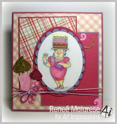 Birthday cake hat granny set Made by Art Impressions Rubber Stamps can be purchased on patsrubberstamps.com. Free shipping on this site. I take most major credit cards as well as paypal. You can also buy it in my ebay store.