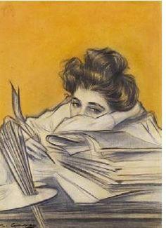 Ramon Casas Y Carbo - Skizze Zum Titelblatt Der Zeitschrift Pel & Ploma. for the office. Spanish Painters, Spanish Artists, Ramones, Oeuvre D'art, Female Art, Painting & Drawing, Traditional Art, Art Drawings, Street Art