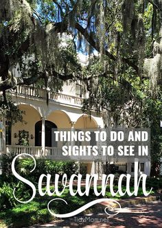 Things to do and sights to see in Savannah, GA. From trolley tours of historic Savannah, to points around Savannah, like Tybee Island, Wormsloe Historic Site and Bonaventure Cemetery. A must read if you're planning a first visit to Savannah Georgia at Tid Vacation Places, Vacation Trips, Vacation Spots, Places To Travel, Places To See, Vacation Ideas, Travel Destinations, Florida Vacation, Travel Stuff