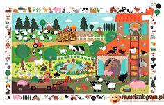 Djeco Tekturowe Puzzle Dla Dzieci Xl, Puzzle Obserwacja. Farma Dla Dzieci, 35 El., (Dj07591) - zdjęcie 1