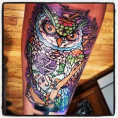 day of the dead owl tattoo
