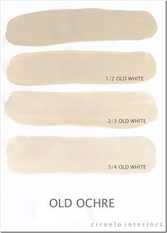 Varying tints possible with Annie Sloan Chalk Paint® using a combination of Old Ochre & Old White by Ciruelo Interiors. Annie Sloan Chalk Paint Colors, Annie Sloan Paints, Paint Colours, Annie Sloan Colors Chart, Annie Sloan Chalk Paint Techniques, Chalky Paint, Chalk Paint Projects, Chalk Paint Furniture, Paint Ideas