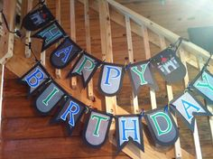 Castles & Dragons birthday party banner.