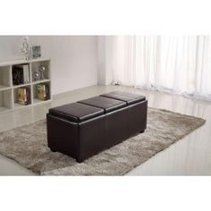 Simpli Home Avalon Large Rectangular Storage Ottoman with 3-Serving Trays in Dark Brown-INT-AXCAVA-OTTBNCH-02 - The Home Depot