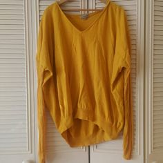 Mustard yellow top Nice flowy top, worn a couple of times. The sleaves are a meshy cotton. No rips or stains. Feel free to ask any questions. Alice&you Tops