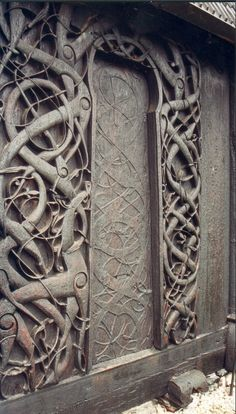 The Vikings get a bad rap for being brutal mauraders, but just look at this beautiful carving.