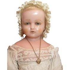 Pierrotti Baby Face_English Poured Wax doll_Circa1871