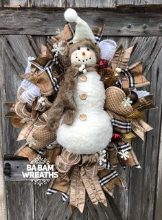 Excited to share this item from my shop: Snowman Wreath, Winter Wreath, Traditional Christmas, Christmas Swag, Christmas Wreath Merry Christmas, Burlap Christmas Tree, Christmas Mesh Wreaths, Christmas Swags, Winter Wreaths, Rustic Christmas, Primitive Christmas, Christmas Snowman, Snowman Decorations