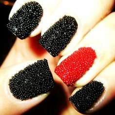 3D Beads Black CaviarNail Polish For Fashion Women  #Christmas #Caviar #Nail www.loveitsomuch.com