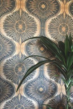 Gold & Black Bibana Wallpaper - Sample - From Rockett St George