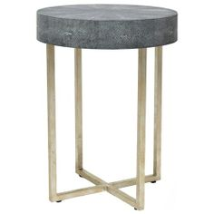 Avalon Shagreen Round Side Table
