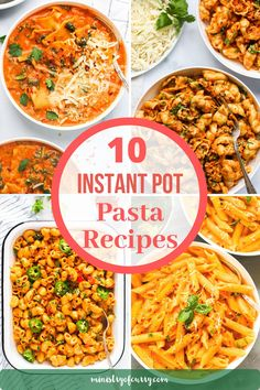 Easy pasta recipes made in the Instant Pot. Perfect for quick and delicious weeknight meals for the family! #ministryofcurry #instantpot #pastarecipes Easy Pasta Recipes, Noodle Recipes, Curry Recipes, Easy Chicken Recipes, Easy Meals, Cooking Recipes, Instant Pot Pasta Recipe, Instant Pot Dinner Recipes, Delicious Dinner Recipes