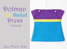 DIY Kid Clothes Fashion: DIY Baby Color Blocked Dress Tutorial
